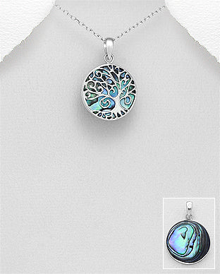 Circle Shell Tree of Life Necklace