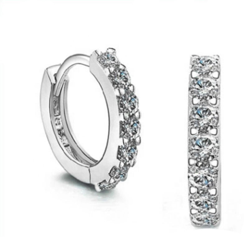 12mm CZ Huggie Earrings