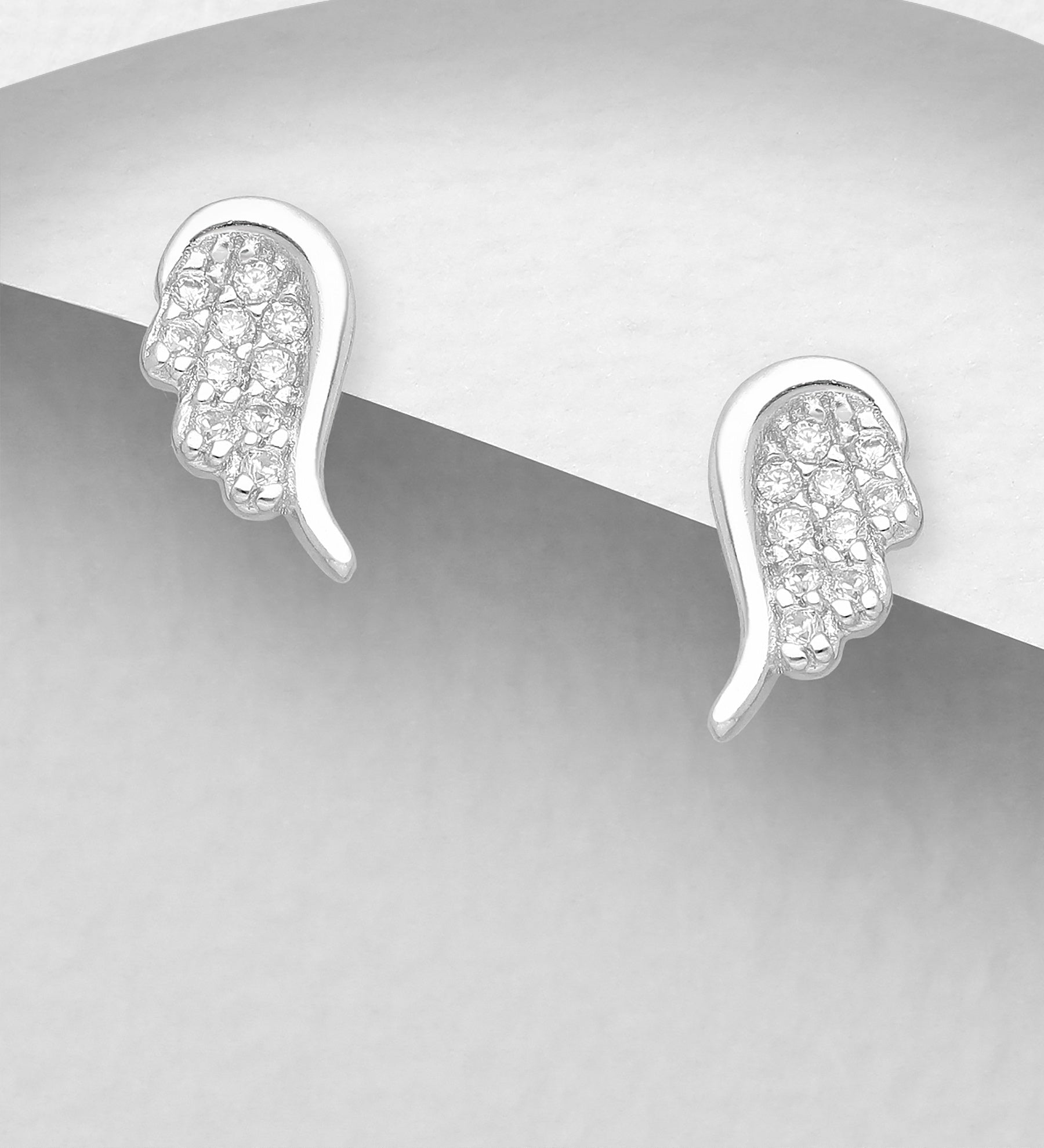 Angel Wing CZ Earrings