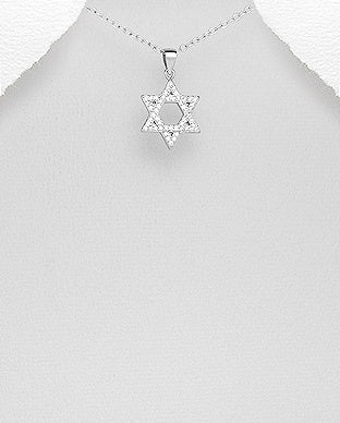 Star of David CZ Necklace