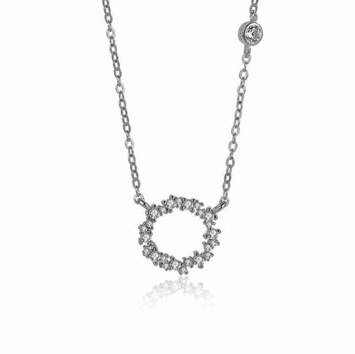 CZ Encrusted Eternity Necklace