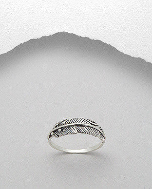 Feather Closed Ring