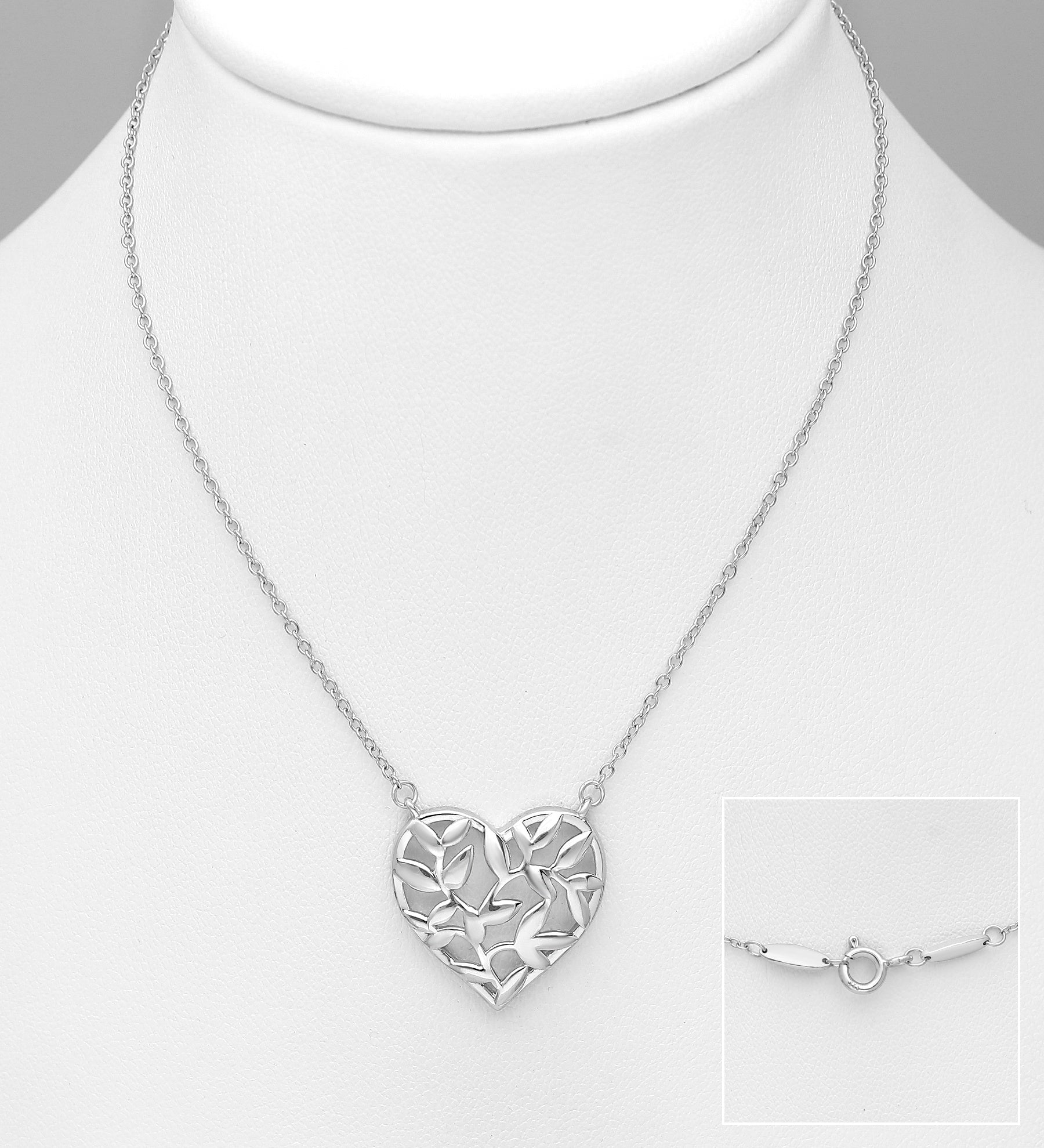 Leaves Heart Necklace