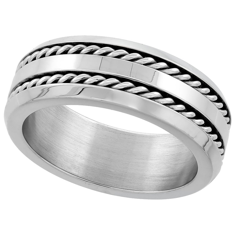 Double Rope Stainless Steel Premium Ring