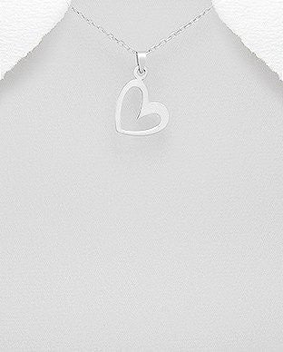 Outline Heart Pendant