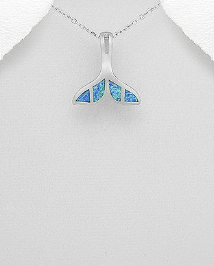 Opal Whale Tail Necklace
