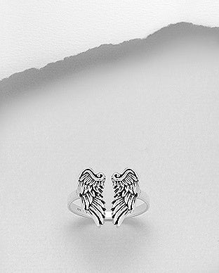 Adjustable Angel Wing Ring