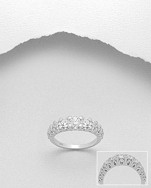 CZ Crowned Ring