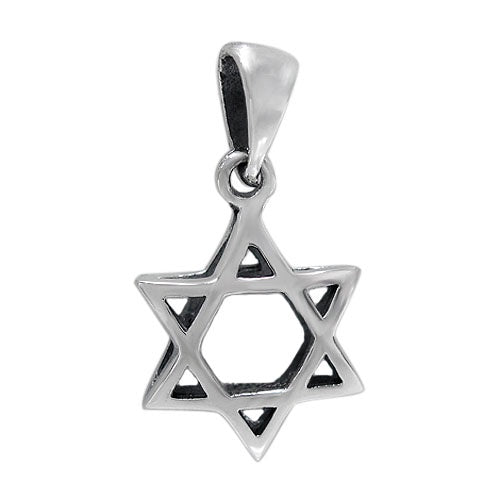 Puff Star of David Necklace