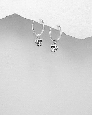 Hoop Skull Earrings