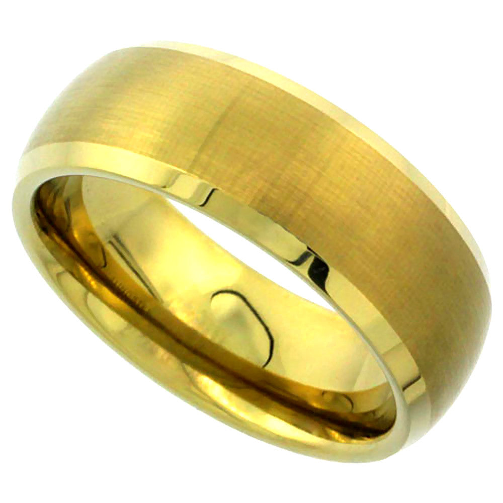 Gold Dome Tungsten Ring