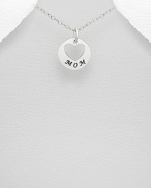 Mom Heart Cut out Charm