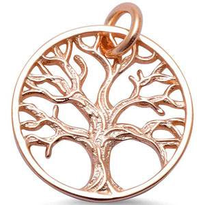 Rose Gold Detailed Tree of Life Necklace