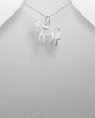 Outline Horse Necklace