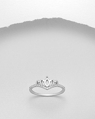 Princess Crown CZ Ring