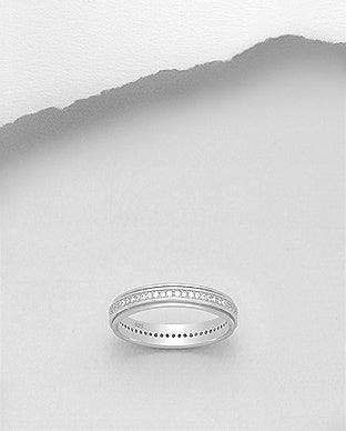 Beveled Eternity Band 4mm