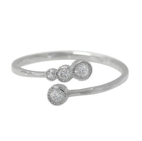 Circle CZ Abstract Ring