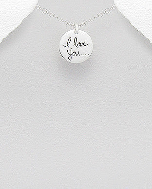 I Love You.. Sterling Silver Charm