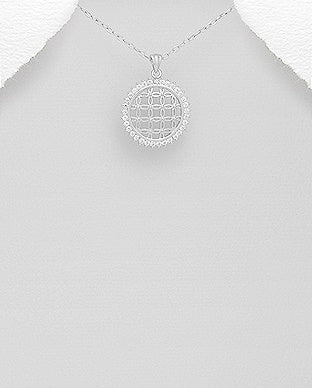 CZ Flower of Life Necklace