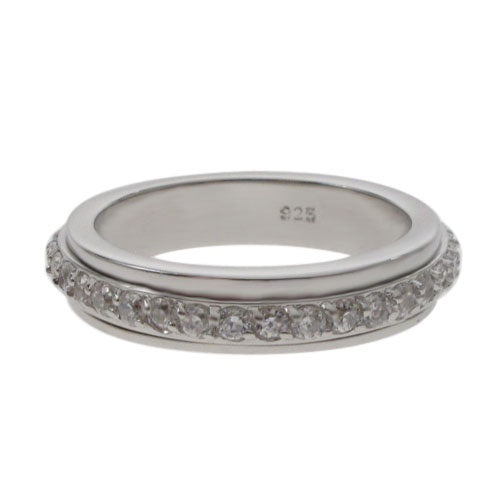 CZ Eternity Meditation Ring