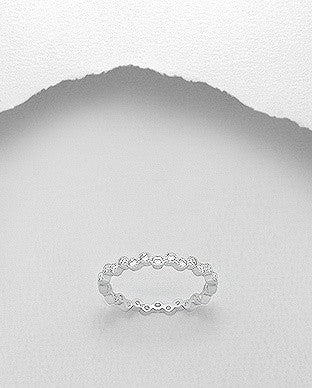 CZ Eternity 3mm Ring