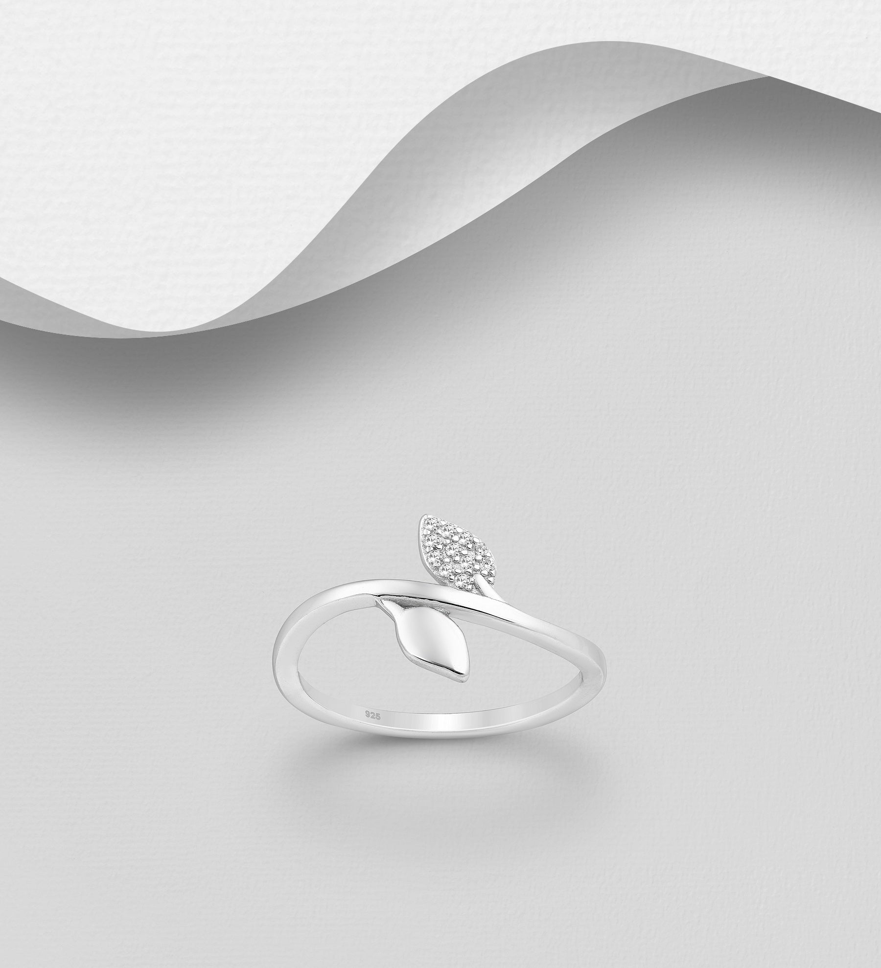 Dual Leaf Thin Ring