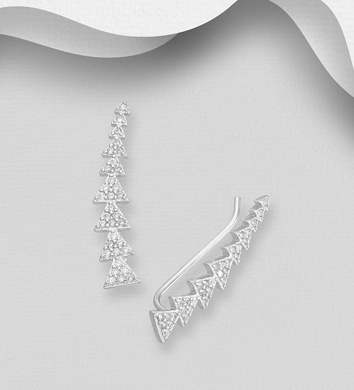 Triangle Ear Climber Earrings