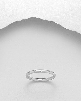 CZ Embedded Eternity Ring
