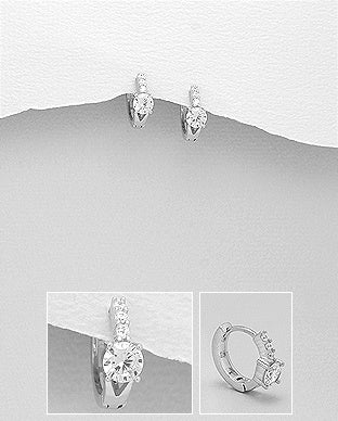 Huggie Earrings with 5mm CZ