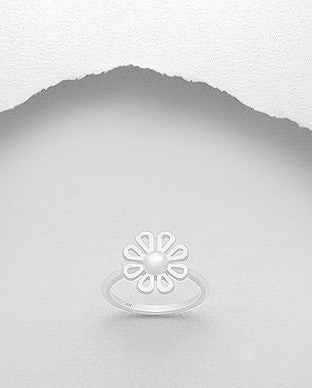 Flower Stackable Sterling Silver Ring