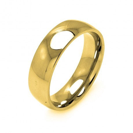Stainless Steel Gold Color Ring 7mm