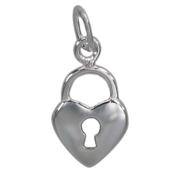 Heart Shaped Lock Charm