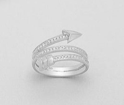 Triple CZ Wrap Arrow Ring