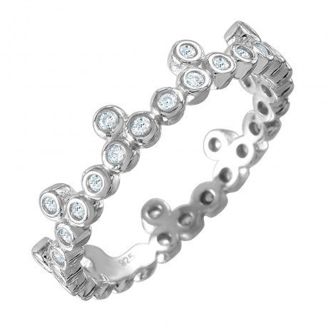 CZ Stackable Eternity Crown Ring