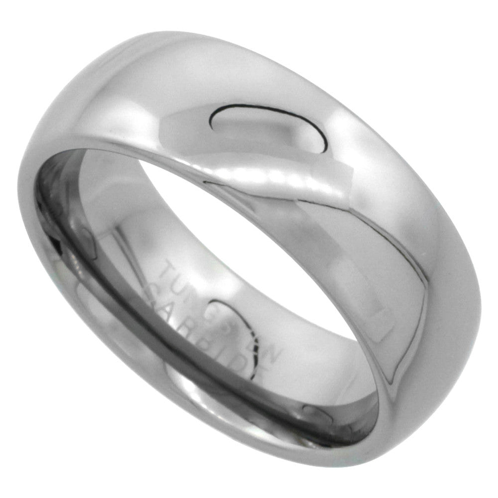 8mm Tungsten Polished Dome Ring