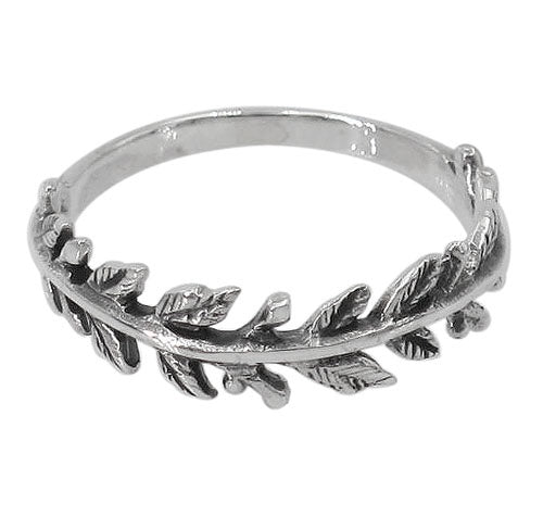 Textured Leaf Ring