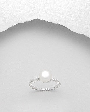 Pearl Solitaire Ring