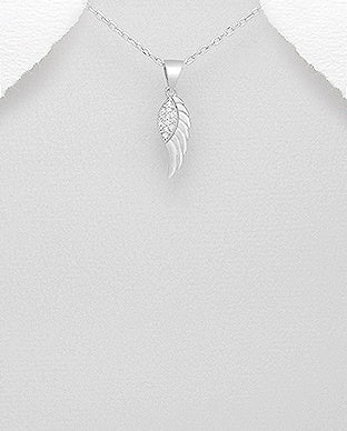 CZ Top Wing Necklace