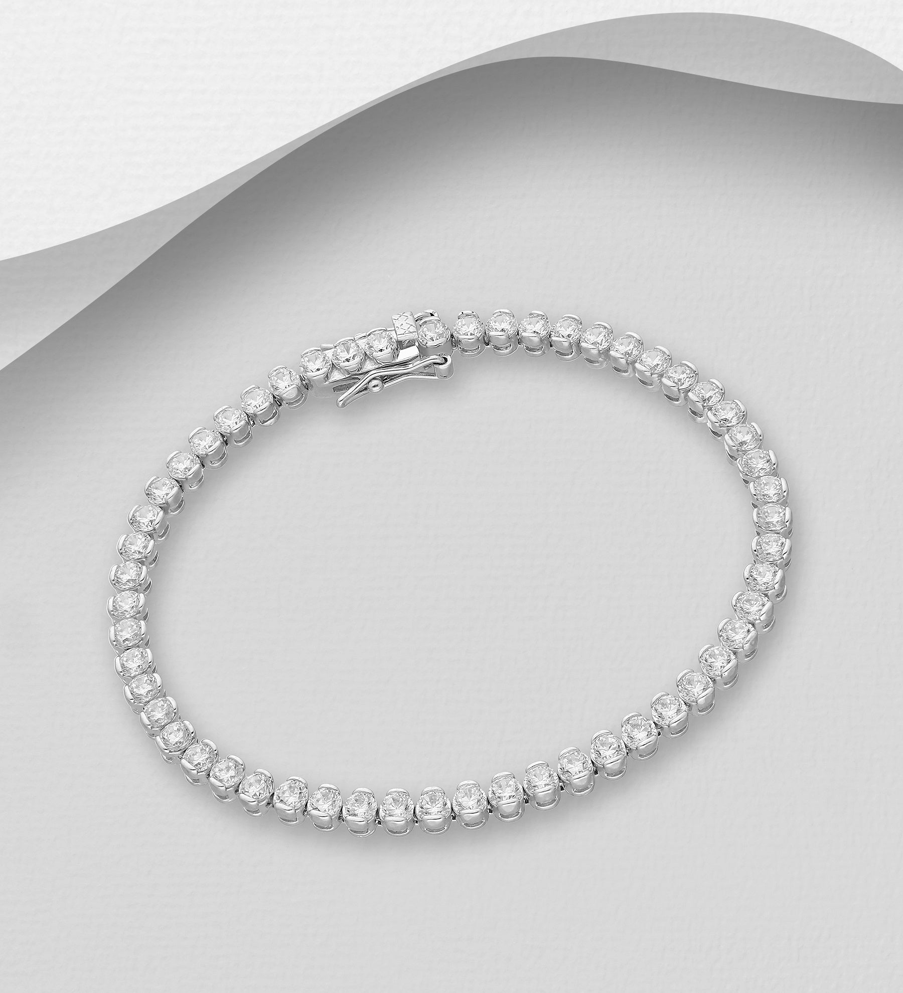 Brilliant CZ Tennis Bracelet 4mm