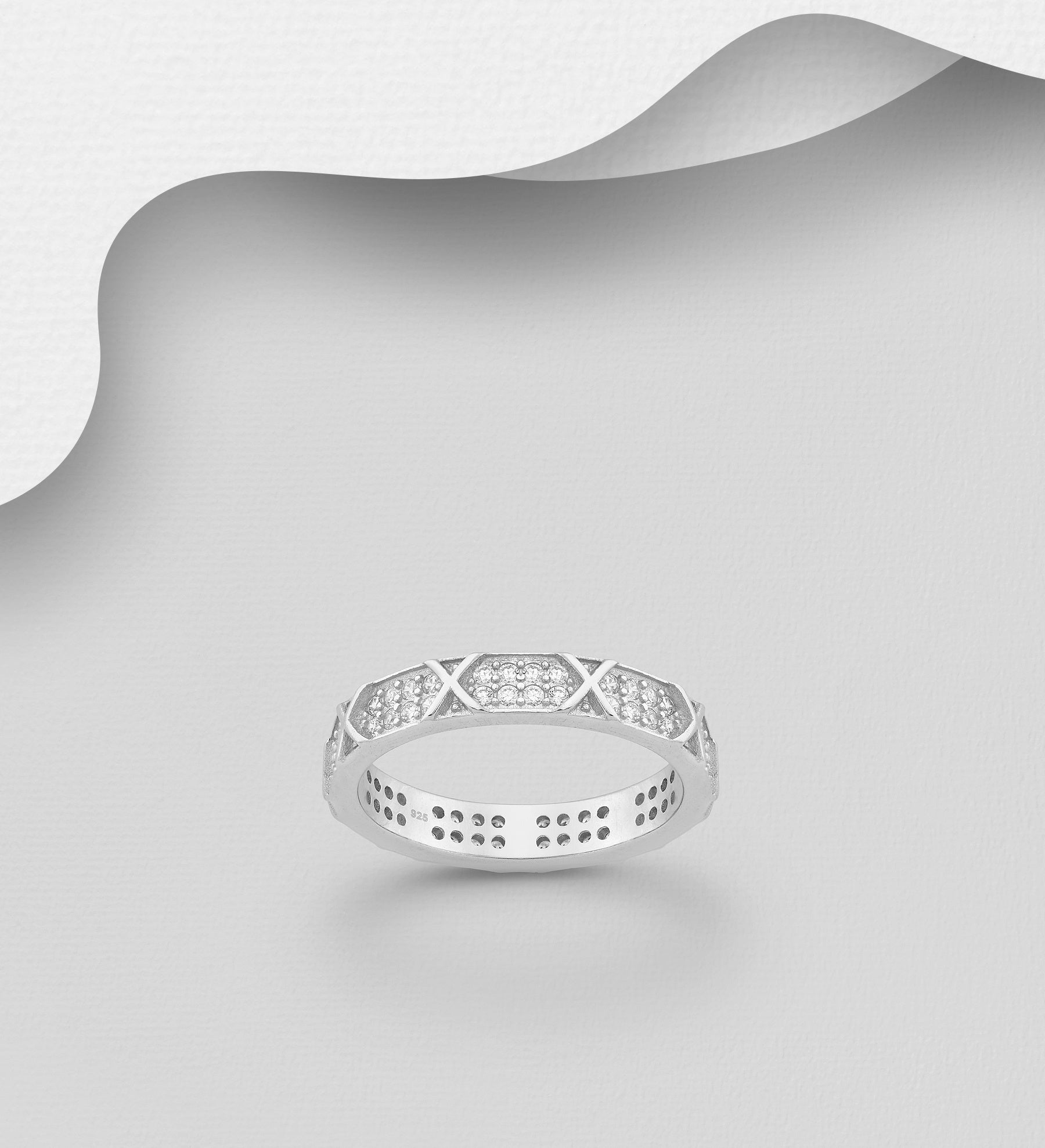 Criss-Cross Eternity Band