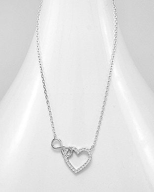 Infinity Connected Heart Necklace
