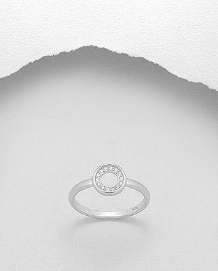 CZ Inside Circle Ring