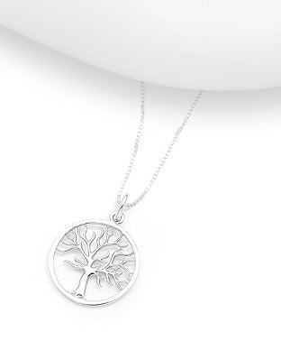 Smooth Abstract Tree of Life Necklace