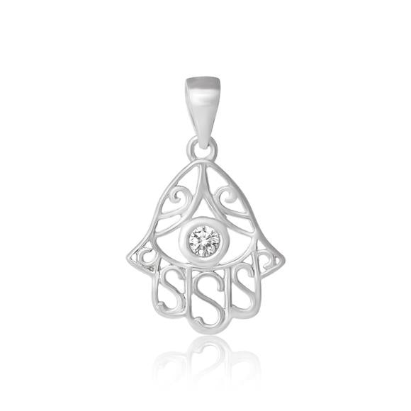 Hamsa Cubic Zirconia Necklace