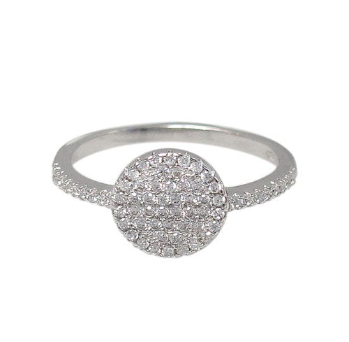 Circle CZ Micropave Ring