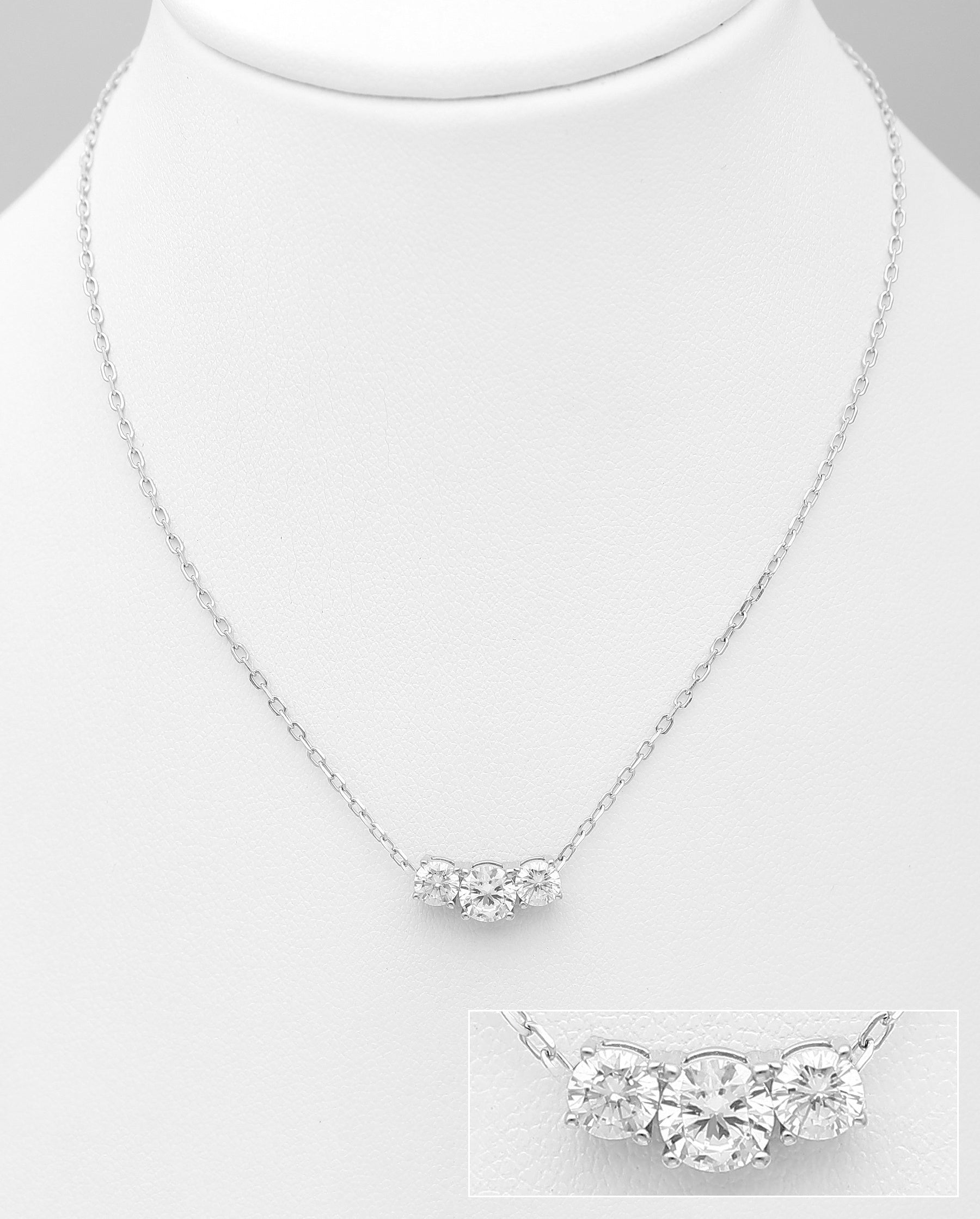 Triple CZ Necklace
