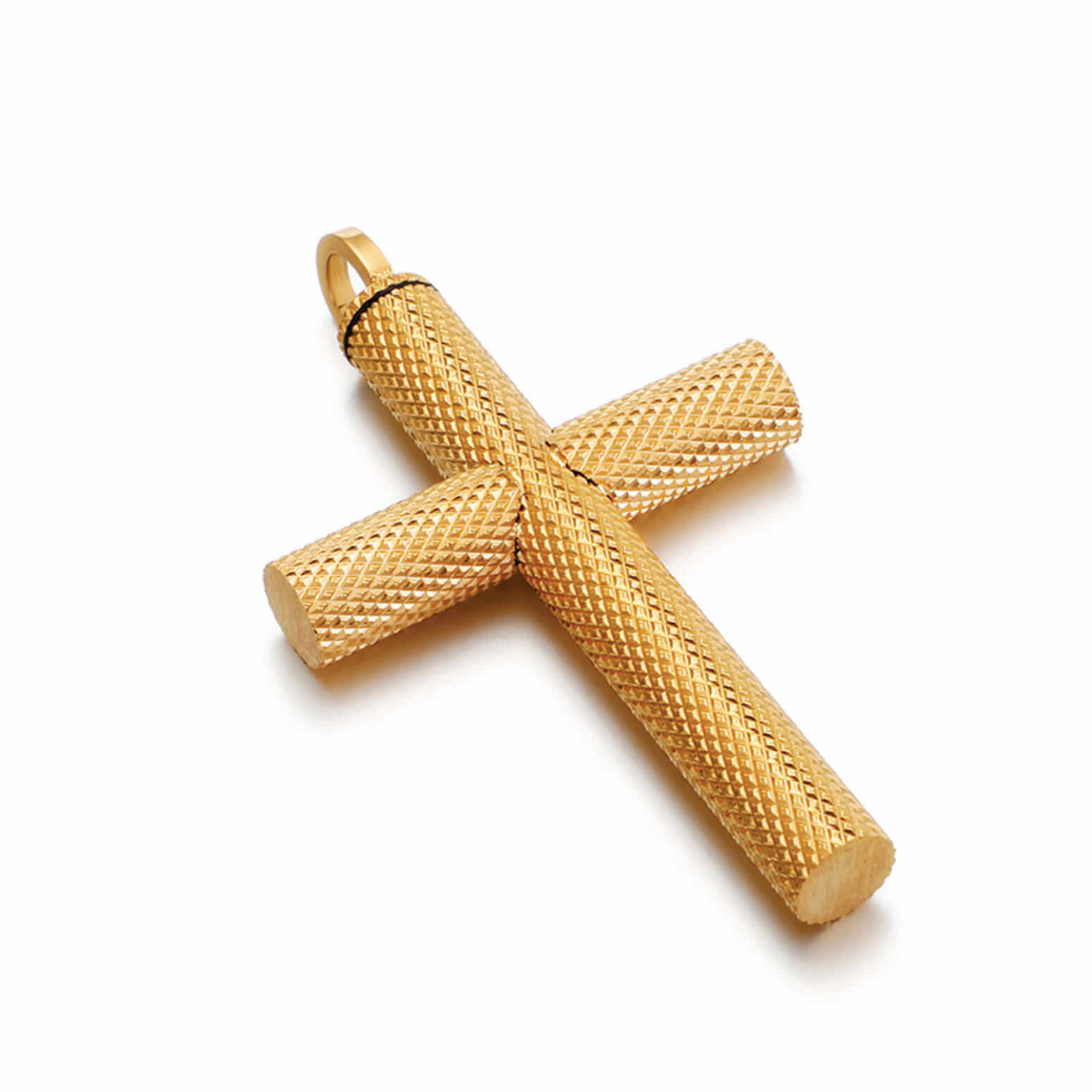 Textured Urn Cross Necklace