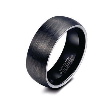 Brushed Beveled Tungsten Ring