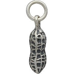 Sterling Silver Peanut Charm