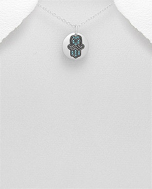 Hamsa Pave Setting Necklace